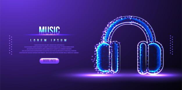 Auricular, auricular, instrumento musical, estructura de alambre de baja poli