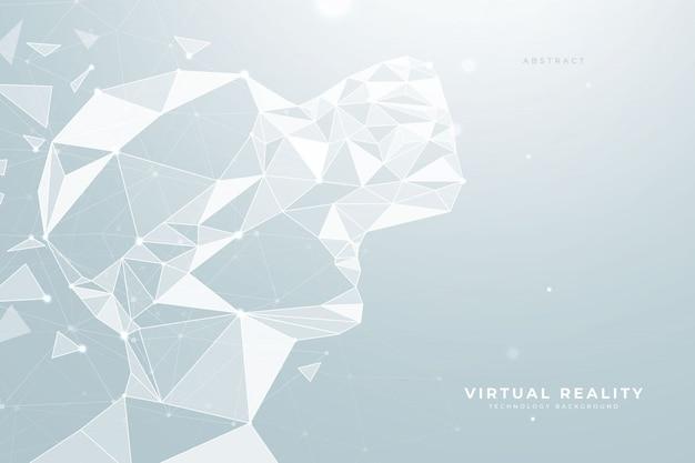 Auriculares de realidad virtual low poly de fondo