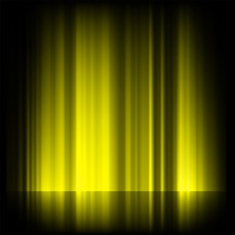 Aurora boreal amarilla, aurora boreal.