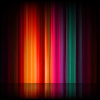 Aurora boreal. resumen de colores
