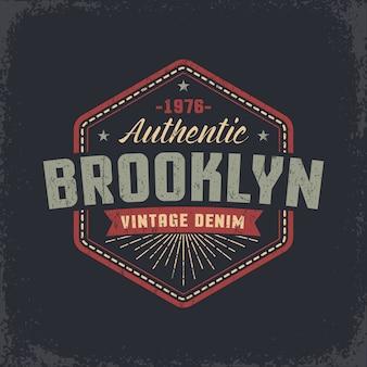 Auténtico diseño retro grunge de Brooklyn