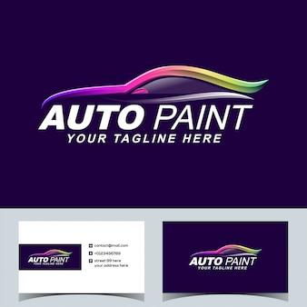Auto colorido pintura coche automotriz logo vector