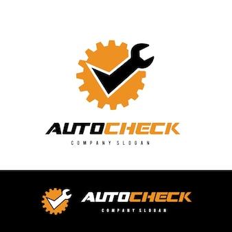 Auto logotipo de la comprobación logotipo de la insignia del coche y del automóvil.