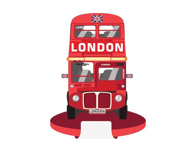Autobús rojo de dos pisos