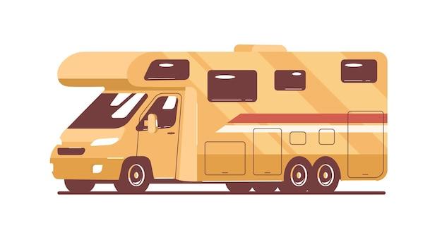 Autocaravana aislada. ilustración de estilo plano de vector.