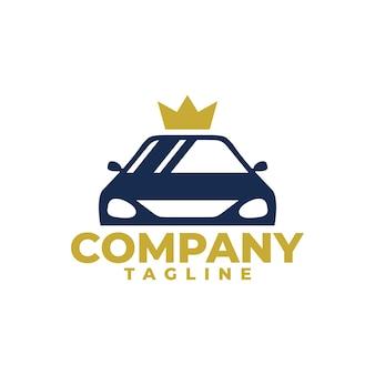 Un automóvil con el logotipo de una corona bueno para cualquier negocio relacionado con la automoción.
