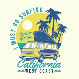 Automóvil de surf