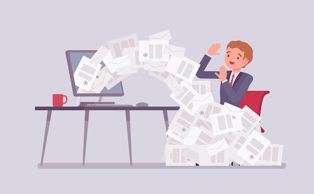 Avalancha de papel para empresario