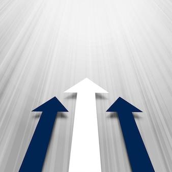 Avanzando fondo de negocios de flechas