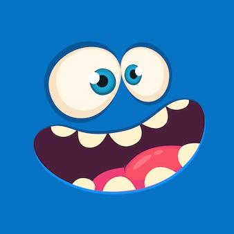 Avatar de cara de monstruo de dibujos animados. monstruo de halloween