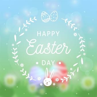 Avatar de conejito feliz día de pascua borrosa