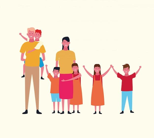 Avatar de grupo familiar