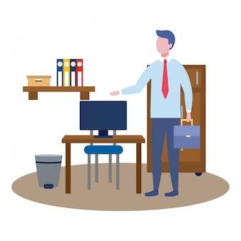 Avatar de hombre de negocios de dibujos animados