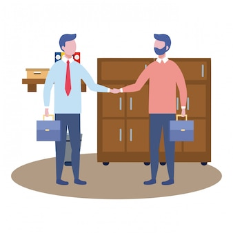 Avatar de hombres de negocios de dibujos animados