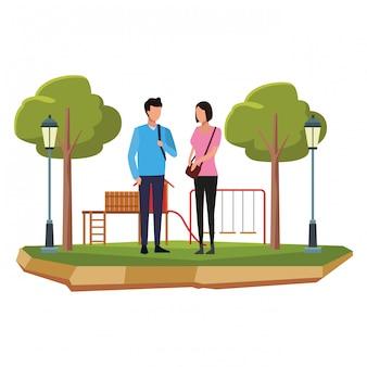 Avatar de pareja joven