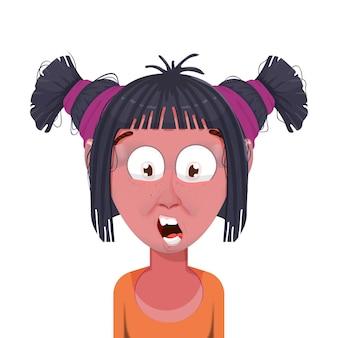 Avatar de personaje de dibujos animados de mujer