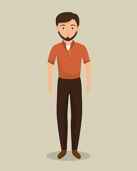 Avatar de personaje de empresario aislado