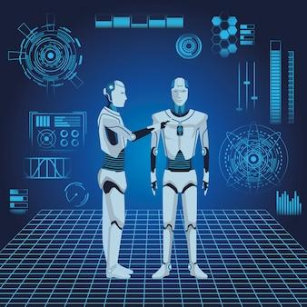 Avatar de robots humanoides