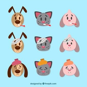 Avatares de cuidado de bonitos animales