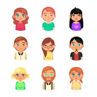 Avatares de grupo de personas
