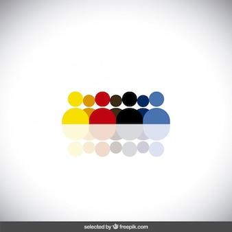 Avatares humanos coloridos