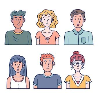 Avatares de personas