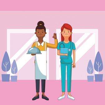 Avatares de profesion y ocupacion femenina
