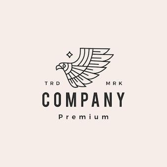 Ave de presa águila hipster vintage logo