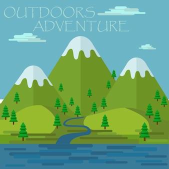 Aventura al aire libre, naturaleza