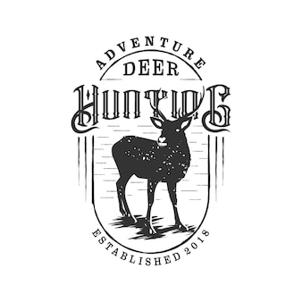 Aventura caza vintage logo.