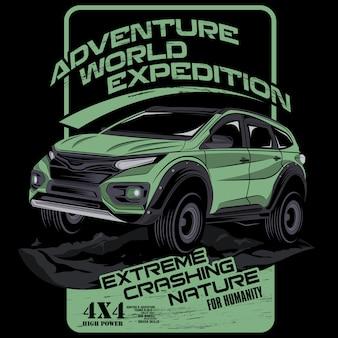 Aventura mundial de expedición.