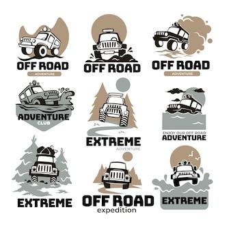 Aventuras extremas y expedición, viajando fuera de la carretera en autos masivos