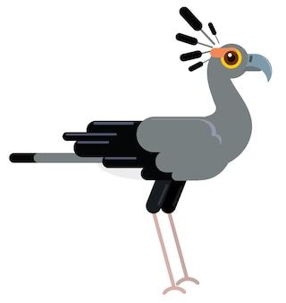 Avestruz gris en el animal plano de vectores de vida silvestre