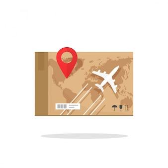 Avión aéreo transporte de carga entrega de carga