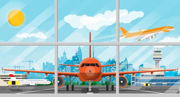 Avión antes del despegue