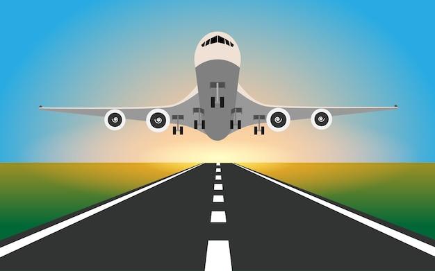 El avion esta aterrizando