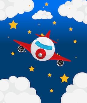 Un avion en el cielo