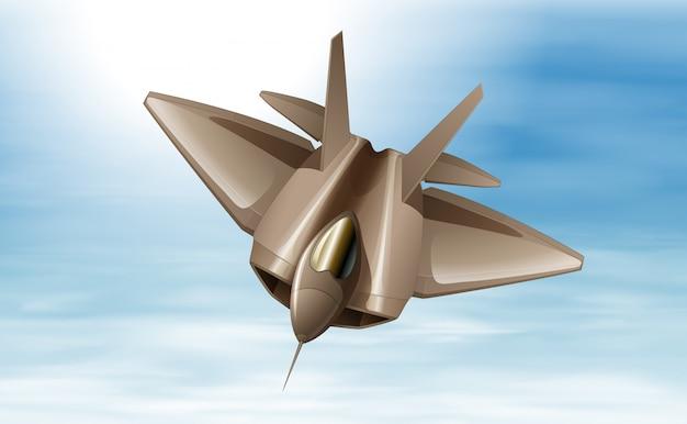 Un avión de combate en el aire.