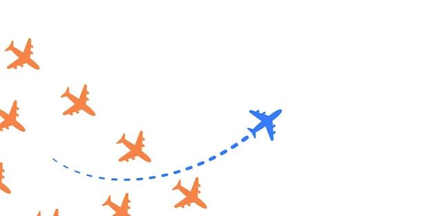 Avión con ilustración de camino propio