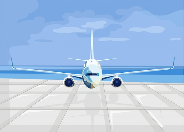 Avión listo para despegar