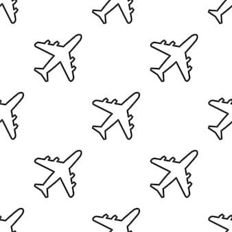 Avión, patrón transparente de vector, editable se puede utilizar para fondos de páginas web, rellenos de patrón