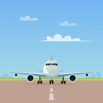 Avión en la pista