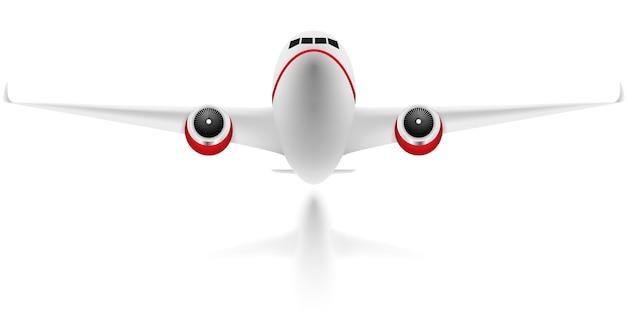 Avión sobre fondo blanco