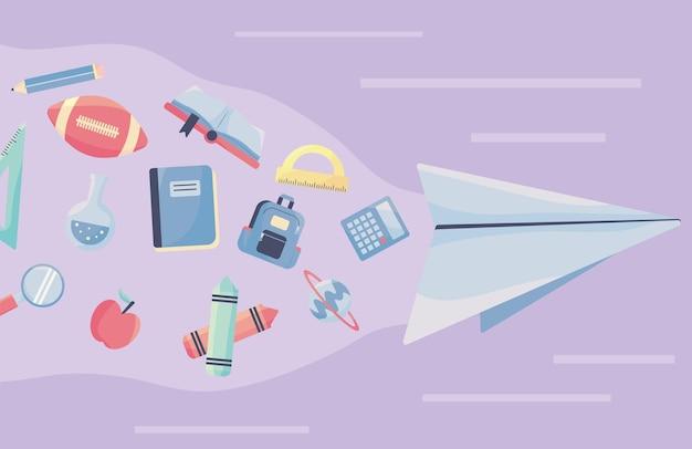 Avión y suministros