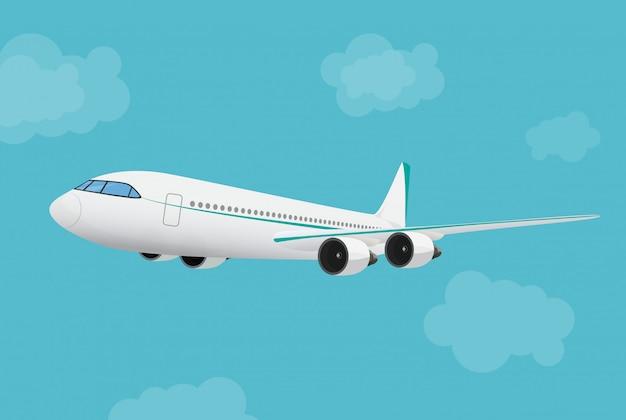 Avión volando en el cielo.