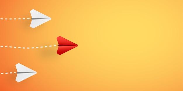 Aviones de papel con ilustración de sombra