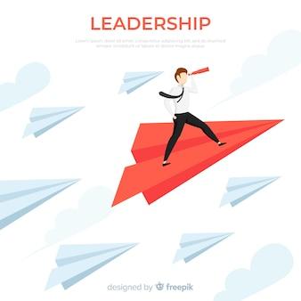 Aviones de papel de liderazgo