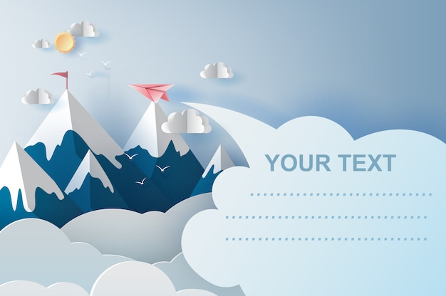 Aviones volando por encima de las montañas en el cielo azul