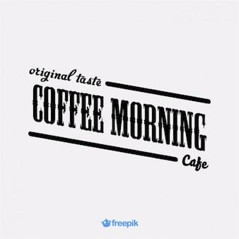 Aviso antiguo de café de la mañana