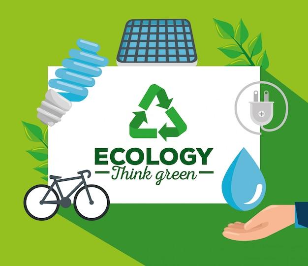 Aviso de protección ecológica para la conservación del medio ambiente.